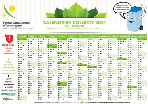 Calendrier De Ramassage Des Ordures Ménagères 2022 SITREVA : calendrier 2021 de collecte des ordures ménagères et du tri